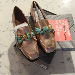 """Jeffery Campbell """"bollero""""  loafers rose gold NWT"""
